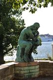 The Thinker. Auguste Rodin's sculpture The Thinker on Waldermarsudde in Stockholm Stock Photo