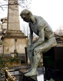 Thinker at Cemetery Stock Images