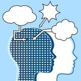 Thinker communication team concept  Royalty Free Stock Photo