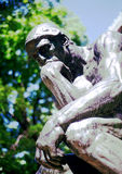 Thinker - Rodin - NYC Royalty Free Stock Photos