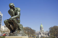 The Thinker by Rodin stock images
