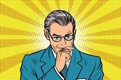 Thinker thinking man pose Stock Image