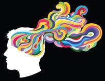 Thinking. Colourful image represets idea and thinking Royalty Free Stock Photos