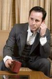 Thinking. Men thinking for future plans royalty free stock photo