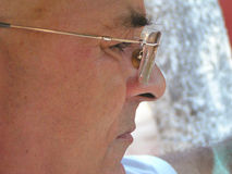 Thinking. Man thinking about future plans Stock Image
