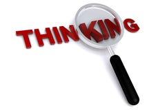 Thinking. Illustration on white background Royalty Free Stock Photos