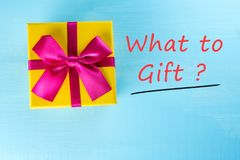 Thinking aboyt question - What to give to a loved one, husband, wife, father, boss or colleague. The problem of choosing. A gift for a holiday or a birthday Stock Photography