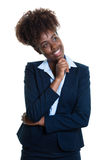 Thinking african american business woman Stock Images