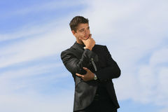 Thinking ahead. Making decisions and strategizing future moves Stock Photo