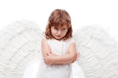Thinking angel Royalty Free Stock Images