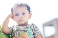 Free Thinking Arab Egyptian Baby Girl Royalty Free Stock Photography - 76270417