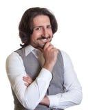 Thinking arabian man Royalty Free Stock Image
