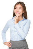 Thinking Asian Businesswoman Stock Images