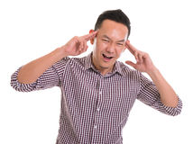 Thinking Asian man Stock Images