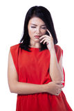 Thinking asian woman Royalty Free Stock Image