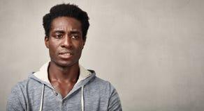 Thinking black man Royalty Free Stock Images
