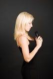 Thinking blonde Stock Photos