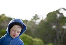 Thinking boy. Stock Image