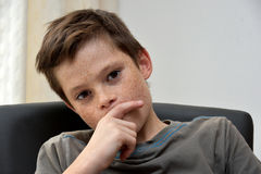 Thinking boy Royalty Free Stock Images