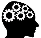 Thinking brain. Brain of a person thinking about possible solutions Royalty Free Stock Images