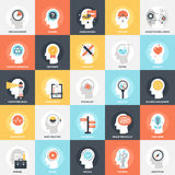 Thinking and Brain Activity. Modern flat vector illustration of thinking and brain activity icon design concept. Icon for mobile and web graphics. Flat symbol stock illustration