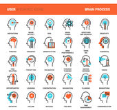 Thinking and brain process Stock Image