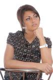 Thinking brunette women Stock Images