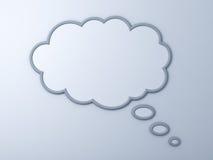 Thinking bubble over white background Royalty Free Stock Image