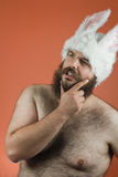 Thinking Bunny Man Stock Images