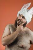 Thinking Bunny Man Stock Images