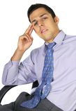 Thinking business man stock images