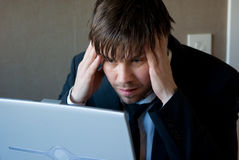 Thinking business man Stock Image