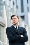 Thinking about business solutions. Royalty Free Stock Image