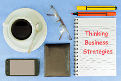 Thinking Business Strategies Stock Image