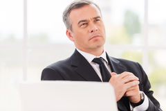 Thinking about business. Royalty Free Stock Image