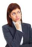 Thinking business woman. Stock Image