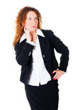 Thinking business woman Stock Image
