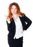 Thinking business woman Royalty Free Stock Photos