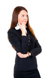 Thinking business woman Stock Photo