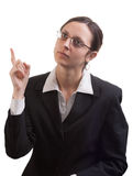 Thinking business woman Stock Photography