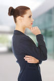 Thinking business woman. Royalty Free Stock Photography