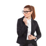 Thinking business woman. Stock Images