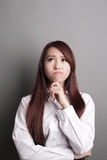Thinking business woman Royalty Free Stock Photo