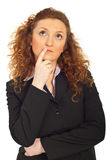 Thinking business woman looking up Stock Images