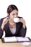Thinking business woman Stock Images