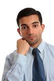 Thinking businessman stock photos