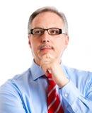Thinking businessman Royalty Free Stock Photography