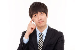 Thinking businessman Royalty Free Stock Photos