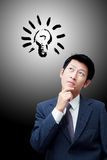 Thinking businessman Stock Photo