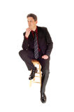 Thinking businessman. Royalty Free Stock Photography